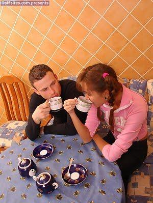 Innocent Girl Swallows Cum Instead Of Tea Girl pics