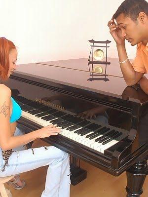 Babe Pleasing Her Piano Teacher For A Good Mark Teacher pics