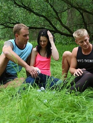 Sindy Can't Get Enough Cock Once She's Tried Out This Guys In The Woods For Her First Time Can pics