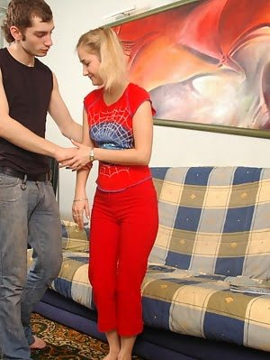 Blonde College-girl Strips For Her Boyfriend Blonde pics