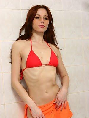 Lustful Whore Masturbates In The Shower.