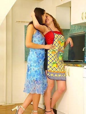 Intense Lesbian Pleasures Right On The Staircase Lesbian pics