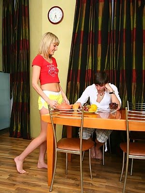 Blond Zina Fucks With Cute Male Student. Cute pics