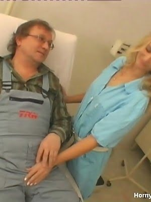 Staggering Nurse Is Satisfying Old Patient