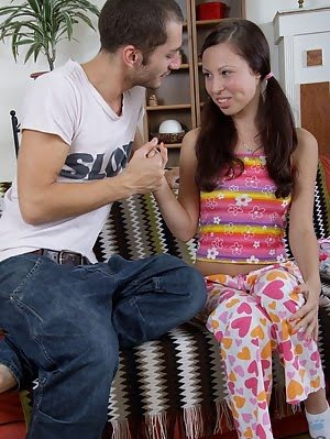 Hard Cock Stretches Tight Poon Of Young Abbey. Hard pics