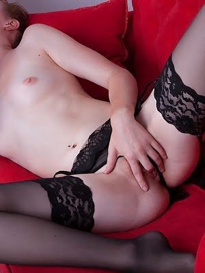 Black Lace On Extra Virgin White Skin. This Gorgeous Babe Knows How To Boost The Sexuality In Her Lo