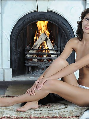 Skinny Teen Gets Naked In A Mansion Where She Discovers Her Own Lust And Has Fun With Her Surroundin Gets pics