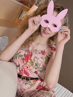 This Flawless Blonde Teen Leads You Straight Down The Rabbit Hole As She Shows Off That Pink Teen Pu Hole pics