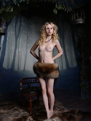 Curly Haired Blonde Beauty Shows The Stuff Of Your Dreams As She Shows Her Juicy Pussy With Unusual