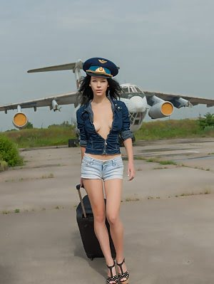 Hot Teen Pilot Strips On The Airstrip Before She Strips Off All Of Her Clothes And Shows Pussy Inste Shows pics