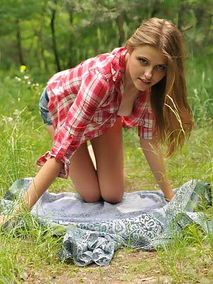 The Lover Of This Cute Teen Will Get Amazing Show While She Undresses In The Wild. Unbelievably Hot She pics