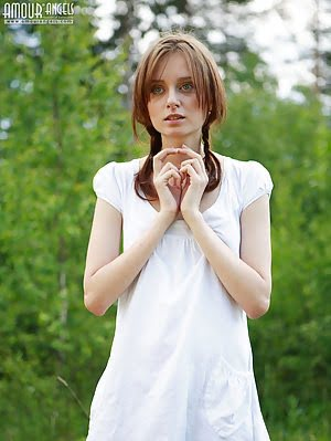 Timid Teen Girl Comes To The Nature And Poses Her Beautiful Body In Front Of The Camera. Poses pics
