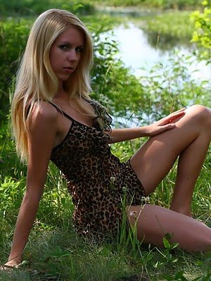 Splendid Striking Teen Has Come To The Picturesque Green Valley Near The Blue River To Have A Little Little pics
