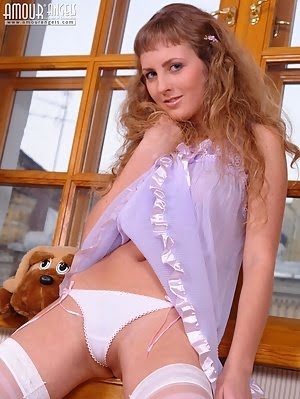 Naked Gorgeous Blonde In Sexy White Stockings Exposing Her Awesome Body And You Cant Resist Her Unfa Gorgeous pics