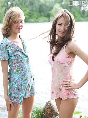 Two Beautiful Ladies Want To Prove That They Got More Than Just Sweet And Attractive Bodies. Beautiful pics