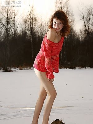 Sweet Teen Girl Is Always Happy To Please You With A Sweet Show Off Even In The Cold Weather.