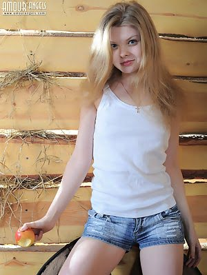 Perfect Teen Cutie Strips Nude In The Barn To Demonstrate Her Lovely Petite Body On Camera. Teens pics
