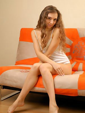 Charming Smile And Hot Body Of Long-haired Teen Model Can Easily Make Your Mouth Water.