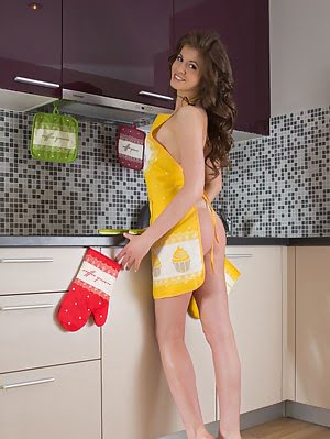 This Lovely Mistress Makes Breakfast In The Kitchen, So She Serves You Up A Nice Hot Slice Of Pussy. Hot pics