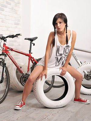 Pleasant As Well Enjoyable Bike Ride Always Make This Sweet Angel Horny. The First Step Is To Drop O