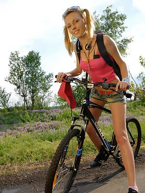 There Are No Excuses When We See A Beautiful Babe Giving Pleasure For Herself While Riding A Bike. W