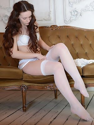Great Looking Babe Dressed In Lacy Lingerie Playing Mind Blowing Game With Imagination. Very Hot Str