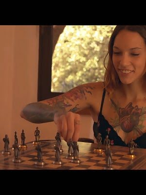 Tall Willowy Coed Silvia Nubi Loses A Game Of Strip Chess And Spreads Her Thighs To Give The Victor