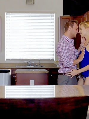 A Kitchen Seduction Leaves Blonde Babe Alexa Grace Eager To Suck And Fuck Her Way To A Bald Pussy Po