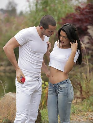 Stunning Spanish Babe Alexa Tomas Uses Her Lush Mouth And Sweet Slender Body To Seduce Her Man Into Man pics