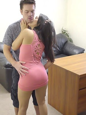 Lusty Teen Megan Rain Seduces Her Boss With A Deep Throat Blowjob And A Stiffie Ride In Her Slick Ba Hole pics
