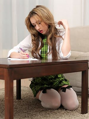 When Schoolgirl Jessi Doesnt Finish Her Homework She Gets Spanked And Spreads Her Legs For A Bald Tw